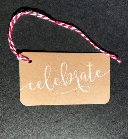 Celebrate Kraft Paper Say Anything Gift/Wine Tags