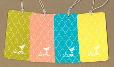 Cheers Birdcage Say Anything Gift/Wine Tags