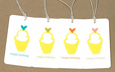 Happy Birthday Cupcake Say Anything Gift/Wine Tags