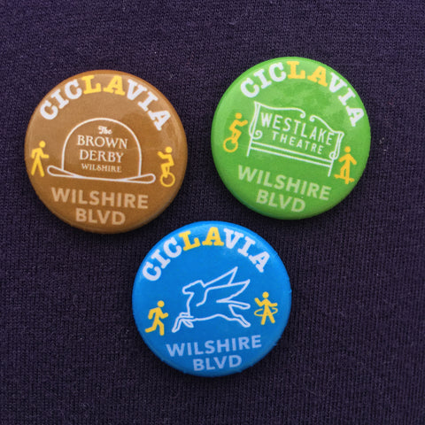 CicLAvia Iconic Wilshire Blvd. Button Pack