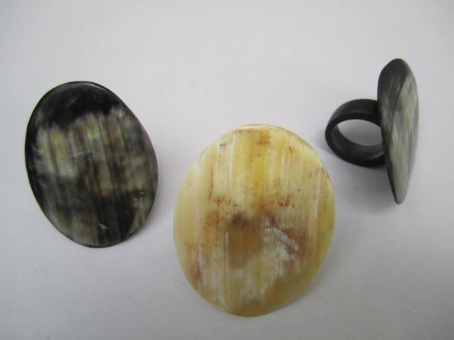 Oval Horn Rings Assorted