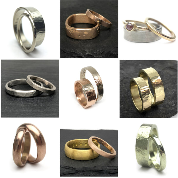 Make Your Own Wedding Band, Forged Wedding Rings, Recycled Gold