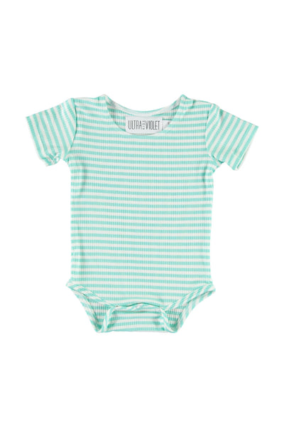 Onesie - Mint Stripe