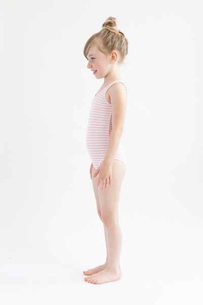 Leotard -  Pink Stripe