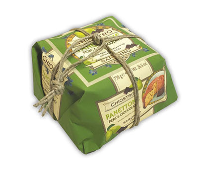 Chiostro Panettone - Pear/Chocolate (Hand Wrapped) 750g