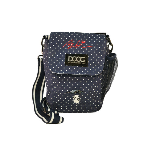 Limited Edition Sara Carson Walkie Bag -  Navy Polka Dot