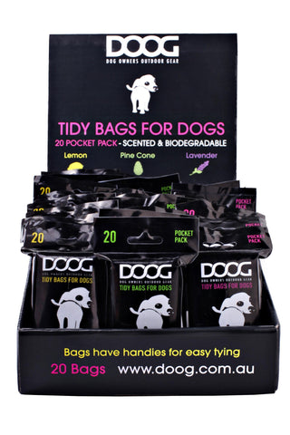 20% off! Tidy Bags -  30 packs of 20 pick up bags (600 total)