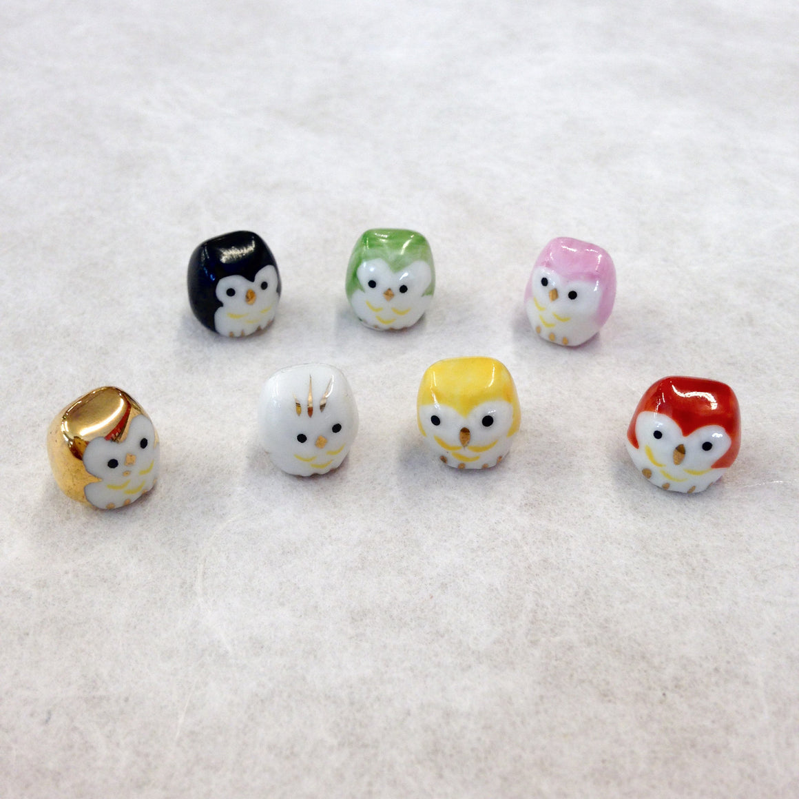 Super Tiny Lucky Owls - set of 7