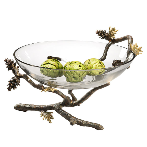 SPI Home Collection Stunning Glass Pinecone Large Bowl - ArtsiHome