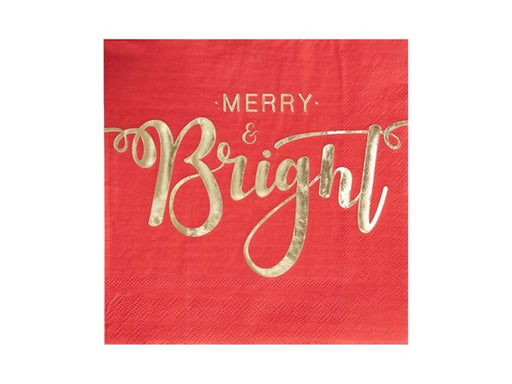 Red and gold Christmas Party Napkins from Party Kit Company online party supplies and decorations Australia