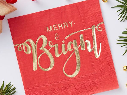Christmas party napkins | Christmas catering supplies online Sydney