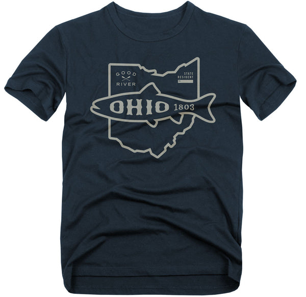 Ohio Fish T-Shirt - Vintage Heathered Navy