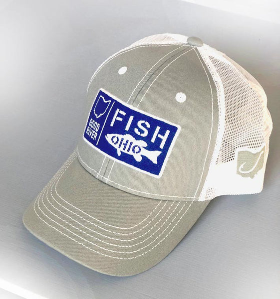 Good River Fish Patch Trucker - Charcoal /White