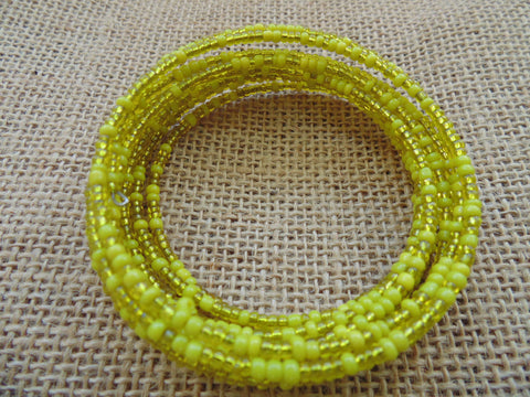 Beaded Coil Bracelet-Yellow