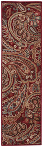 Nourison Graphic Illusions Red Area Rug GIL14 RED