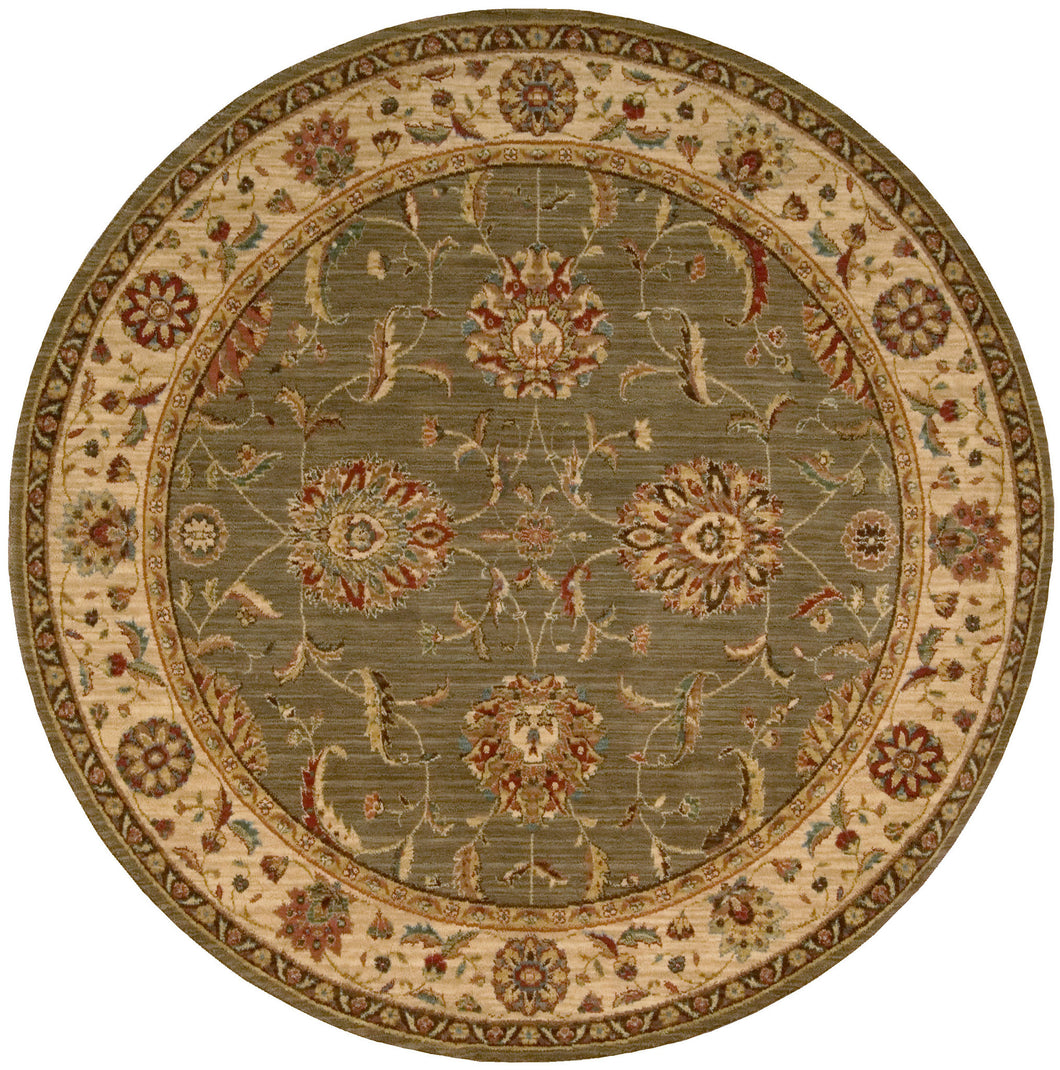 Nourison Living Treasures Green Area Rug LI04 GRE