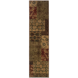 Oriental Weavers Allure 058B1 Green/Red Floral Area Rug