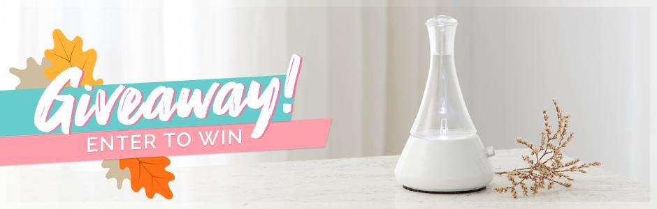 Weekly Essential Oil Diffuser Giveaway by Organic Aromas