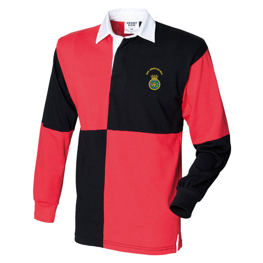 HMS Indefatigable Long Sleeve Quartered Rugby Shirt