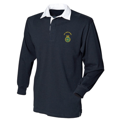HMS Indefatigable Long Sleeve Rugby Shirt