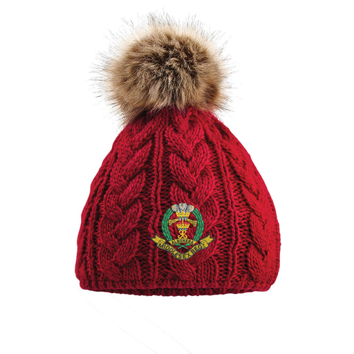 Middlesex Regiment Pom Pom Beanie Hat
