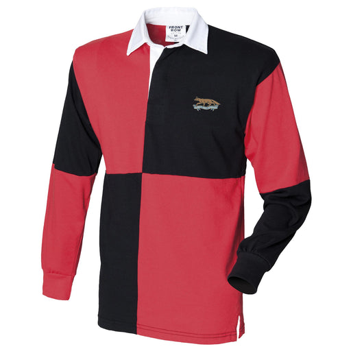 Queens Own Yeomanry Long Sleeve Quartered Rugby Shirt