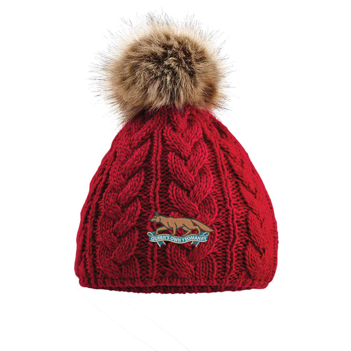 Queens Own Yeomanry Pom Pom Beanie Hat