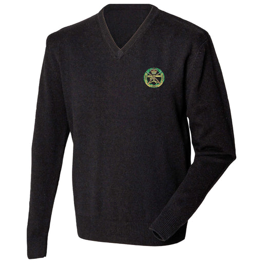 Small Arms School Corps Lambswool V-Neck Jumper