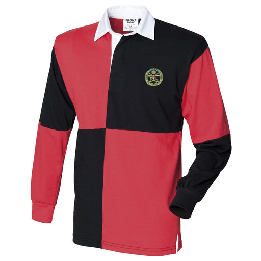 Small Arms School Corps Long Sleeve Quartered Rugby Shirt