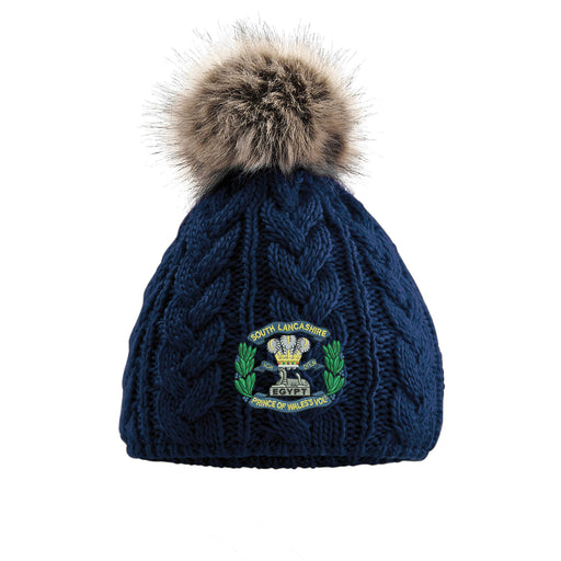 South Lancashire Regiment Pom Pom Beanie Hat