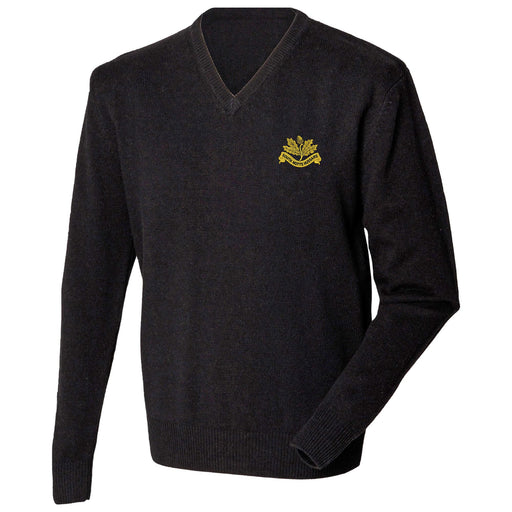 South Nottinghamshire Hussars Lambswool V-Neck Jumper