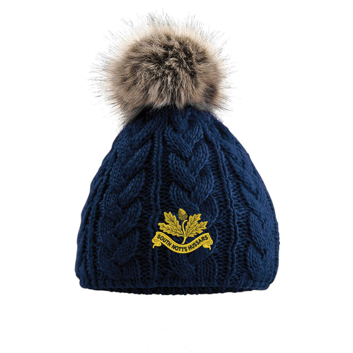 South Nottinghamshire Hussars Pom Pom Beanie Hat