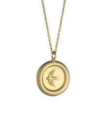 Home Pendant in Matte Gold