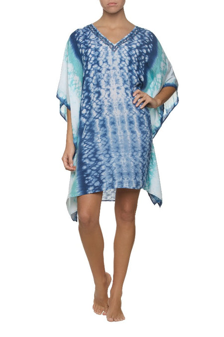 PRINTED COTTON SILK TUNIC-INDOCHINE PRINT