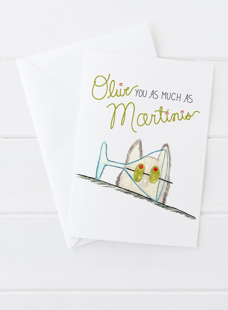 Olive You Martinis Card