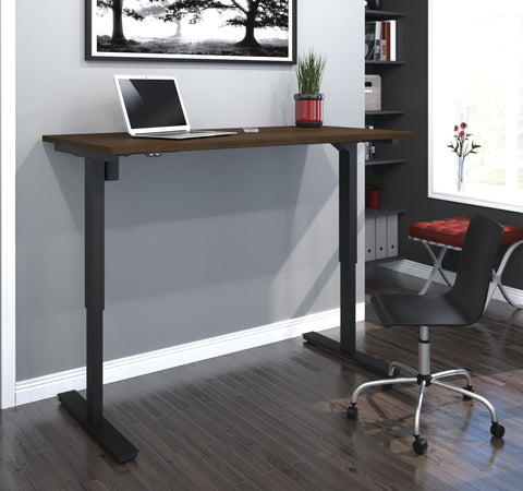 "60"" Sit-Stand Electric Height Adjustable Office Desk in Tuxedo (28"" - 45"" H)"