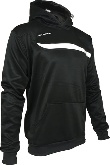 Olorun Adults Tempo Hoodie - Rib Cuffs - Black/White