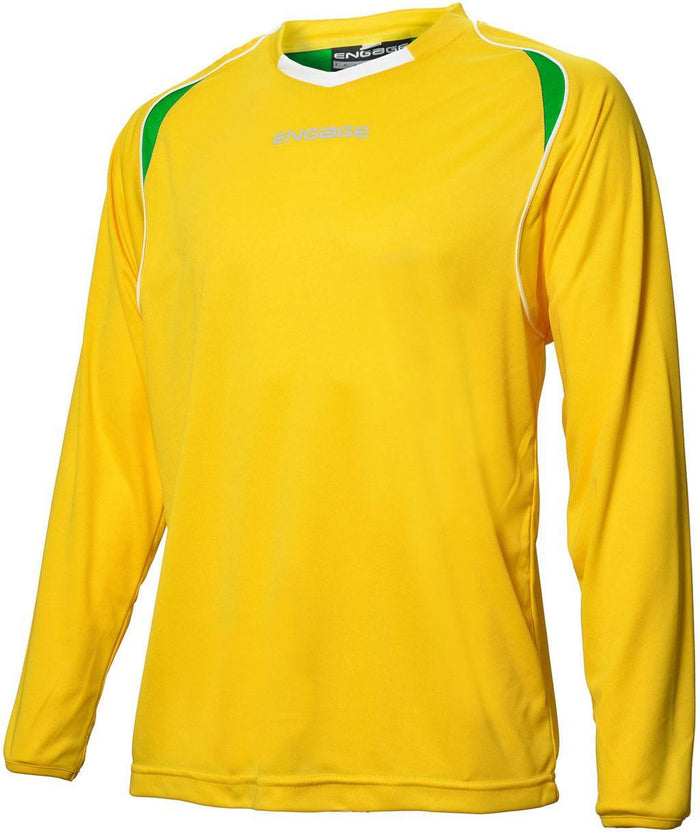 Engage Premium Football Shirt Yellow/Emerald/White (Fast Delivery)