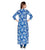 Indigo Blue Printed Embroidered Indo Western Kurta