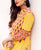 Yellow Tier Hand Block Printed Long Dress