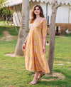 Yellow Jaal Block Printed Dress
