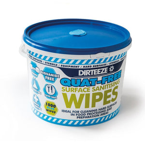 Quat-Free Surface Sanitising Wipes in a Bucket - HMAXB1000QF ||1000 Wipes Per Bucket