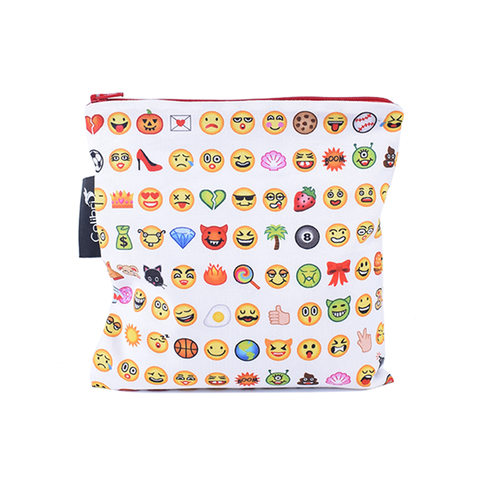 Colibri Large Reusable Snack Bag - Emoji