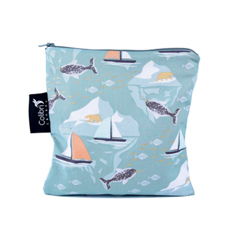 Colibri Large Reusable Snack Bag - Narwhal
