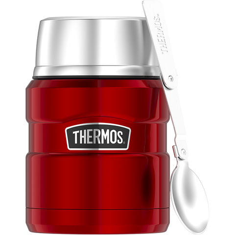 Thermos SS King 16 Oz Food Jar & Spoon - Cranberry