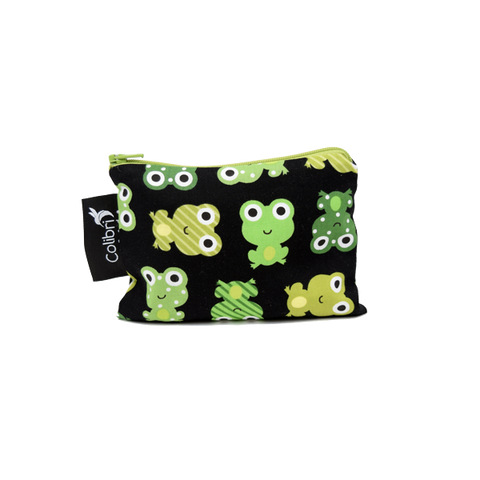 Colibri Small Reusable Snack Bag - Frogs