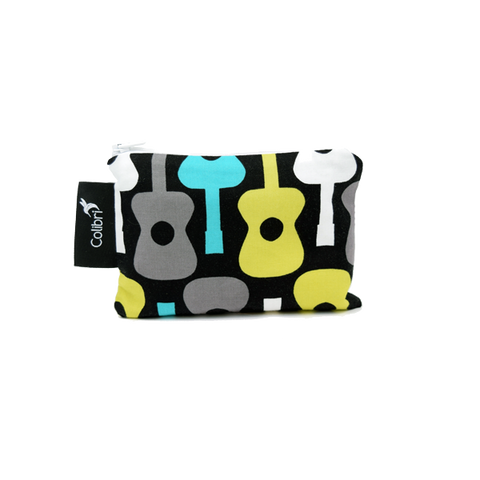 Colibri Small Reusable Snack Bag - Guitars