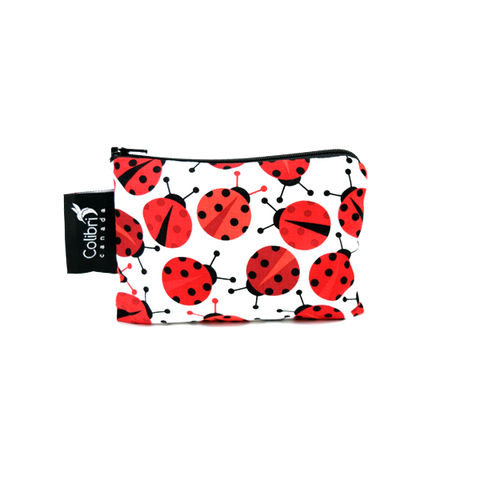 Colibri Small Reusable Snack Bag - Lady Bugs