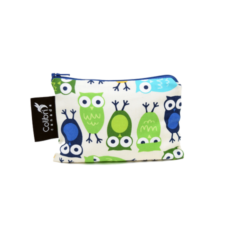Colibri Small Reusable Snack Bag - Owls
