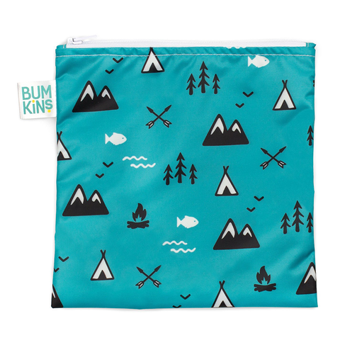 Bumkins Large Reusable Snack Bag: Outdoors